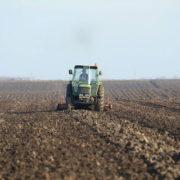 Poljoprivrednik koristi lepo vreme da tanjiracom uz pomoc traktora usitni zemlju na svojoj njivi. (BETAPHOTO/DRAGAN GOJIC/DS)
